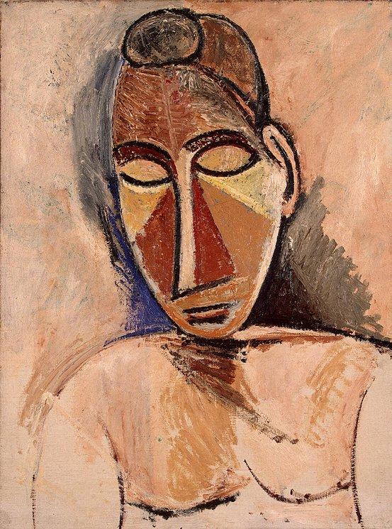 Pablo Picasso.Buste de femme nue.